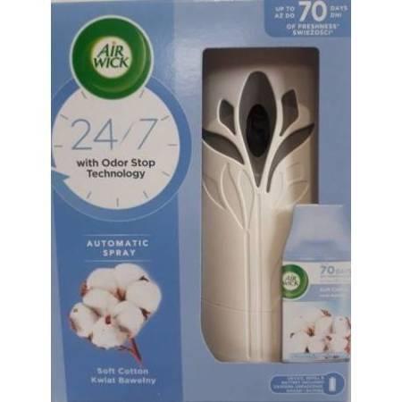 Air Wick Odświeżacz Powietrza i Wkład Kwiat Bawełny 250ml