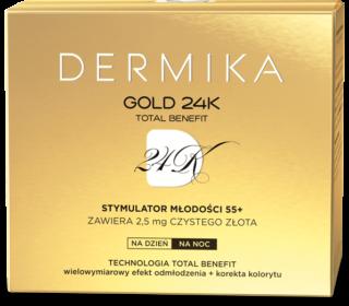 Dermika GOLD 24K TOTAL BENEFIT Stymulator młodości 55+