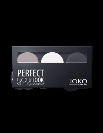 JOKO Cienie prasowane do powiek TRIO PERFECT YOUR LOOK 302